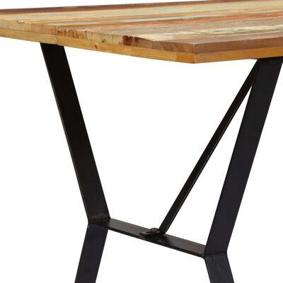 vidaXL Matbord 140x80x76 cm massivt återvunnet trä
