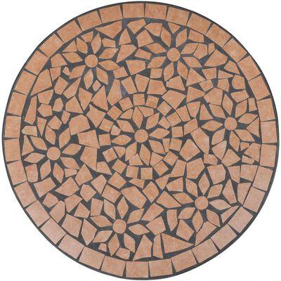 vidaXL Caféset 3 delar keramik terrakotta