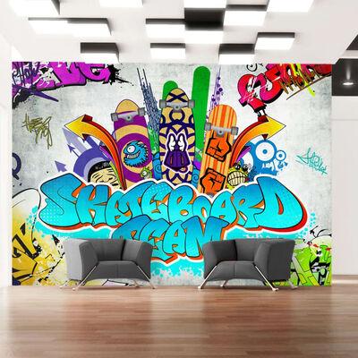 Fototapet - Skateboard Team - 250x175 Cm
