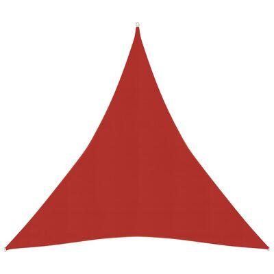 vidaXL Solsegel 160 g/m² röd 5x6x6 m HDPE