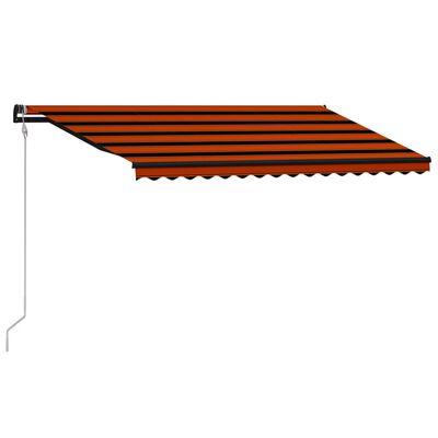 vidaXL Markis automatiskt infällbar 450x300 cm orange och brun