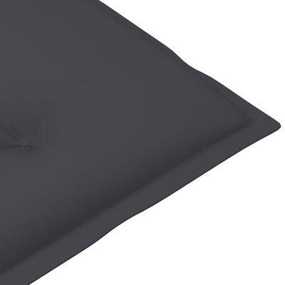 vidaXL Dynor för trädgårdsstolar 4 st antracit 120x50x7 cm