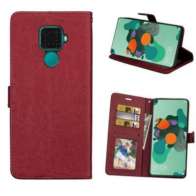 Mobilplånbok 3-kort Huawei Mate 30 Lite (SPL-L29) Brun