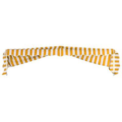 vidaXL Markis 300x120 cm orange och vit