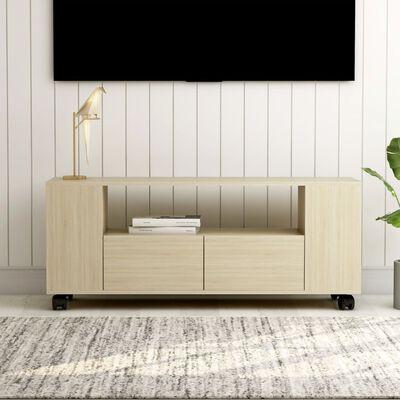 vidaXL TV-bänk sonoma ek 120x35x43 cm spånskiva