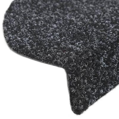 vidaXL Trappstegsmattor självhäftande 5 st svart 54x16x4 cm brodyr