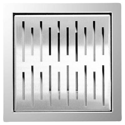 L'Aqua Golvbrunn 20x20 cm fyrkantig rostfritt stål