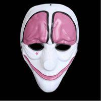 Clown Purge mask maskerad fest party halloween - Rosa-Vit
