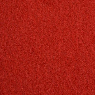 vidaXL Mässmatta slät 1x12 m röd