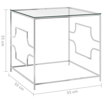 vidaXL Soffbord 55x55x55 cm rostfritt stål