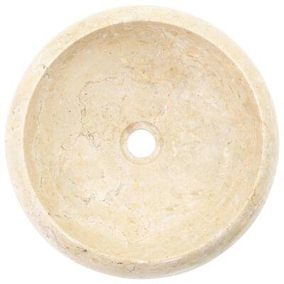 vidaXL Handfat 40x12 cm marmor gräddvit