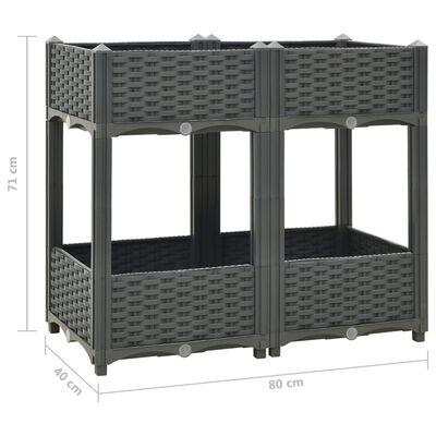 vidaXL Upphöjd odlingslåda 80x40x71 cm polypropen,