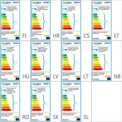 GLOBO LED Spotlight med 3 lampor ENIGMA nickel matt 56620-3