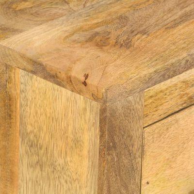 vidaXL Soffbord med 4 lådor 90x50x35 cm massivt mangoträ