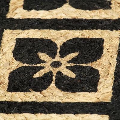 vidaXL Bordstabletter 6 st svart 38 cm rund jute