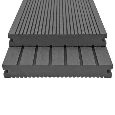 vidaXL WPC massiva golvplattor med tillbehör 30 m² 2,2 m grå