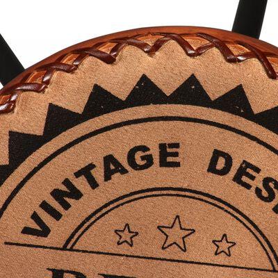 vidaXL Barstolar 4 st äkta läder