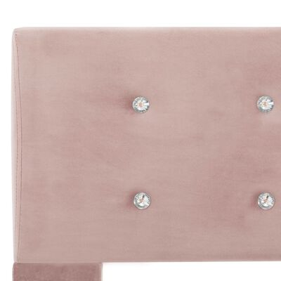 vidaXL Säng med memoryskummadrass rosa sammet 120x200 cm