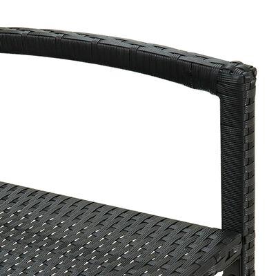vidaXL Barstolar 2 st svart konstrotting