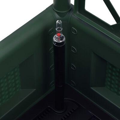 vidaXL Odlingslåda med spaljé och självbevattning grön