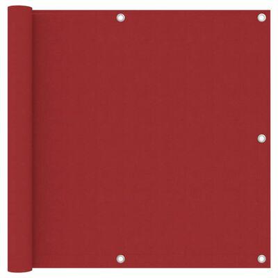 vidaXL Balkongskärm röd 90x500 cm oxfordtyg