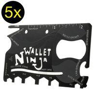 5 pack - 18 i 1 multiverktyg i Kreditkortsformat - Ninja wallet