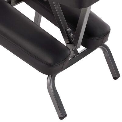 vidaXL Massagestol konstläder svart 122x81x48 cm, Black