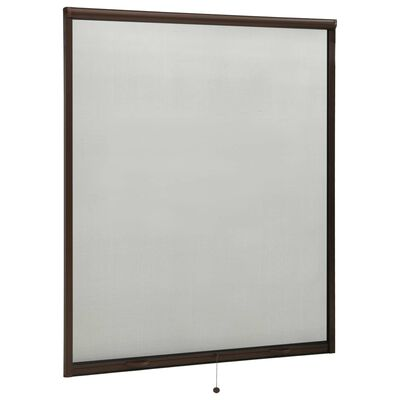 vidaXL Insektsnät för fönster brun 160x170 cm