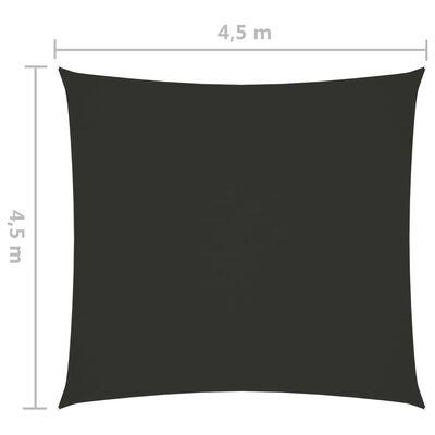 vidaXL Solsegel oxfordtyg fyrkantigt 4,5x4,5 m antracit
