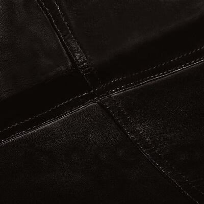 vidaXL Fladdermusfåtöljer 4 st för barn svart äkta läder