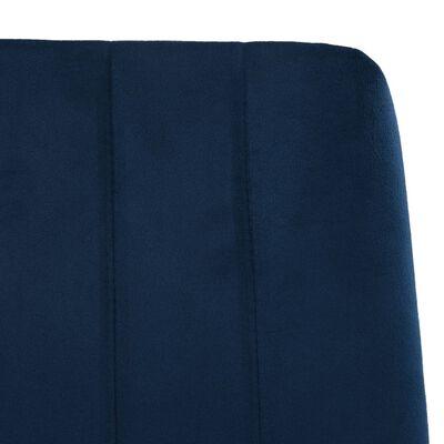 vidaXL Matstolar 4 st blå sammet