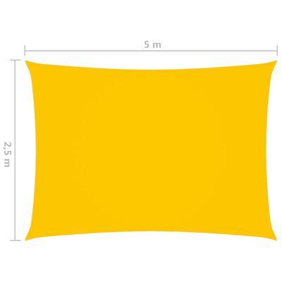 vidaXL Solsegel oxfordtyg rektangulärt 2,5x5 m gul