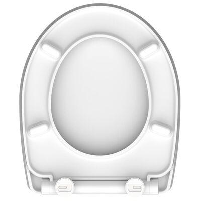 SCHÜTTE Toalettsits med mjuk stängning WATER LILY duroplast