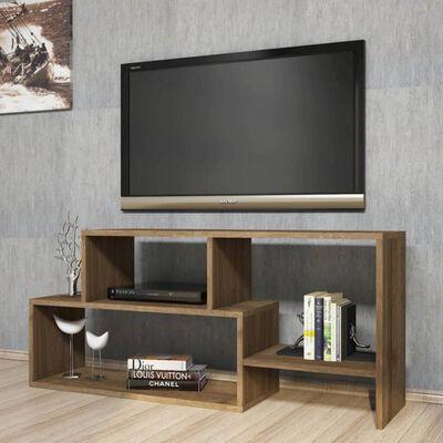 Homemania TV-bänk Clover 121,8x29,5x53,8cm valnötsträ