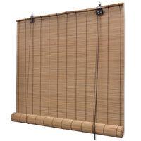 vidaXL Rullgardin bambu 150x160 cm brun