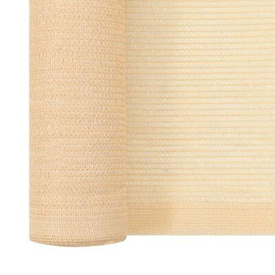 vidaXL Insynsskyddsnät HDPE beige 1,5x50 m