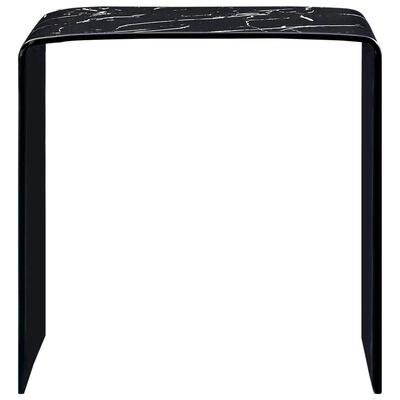vidaXL Soffbord svart marmor 50x50x45 cm härdat glas