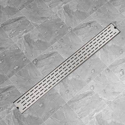 vidaXL Avlång golvbrunn springdesign 1030x140 mm rostfritt stål