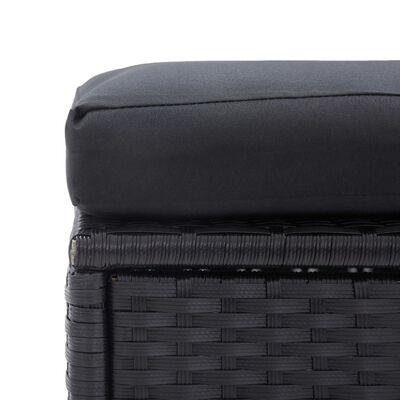 vidaXL Loungegrupp för trädgården med dynor 6 delar konstrotting svart