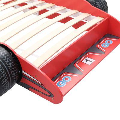 vidaXL Barnsäng racerbil 90x200 cm röd