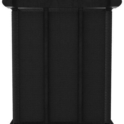 vidaXL Hylla med 5 kuber svart 103x30x72,5 cm tyg