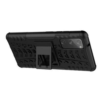 Stöttåligt Skal Med Ställ Samsung Galaxy S20 Fe-röd