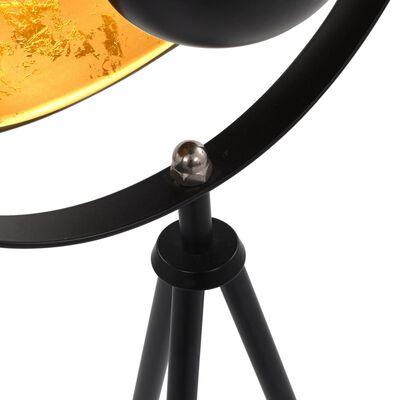 vidaXL Golvlampa E27 svart och guld 31 cm