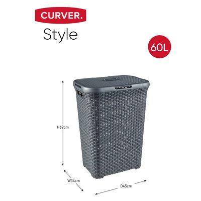 Curver Style Tvättkorgar 2 st 60L antracit
