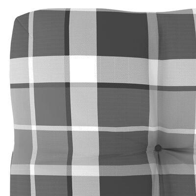 vidaXL Dyna till pallsoffa grått rutmönster 60x60x12 cm