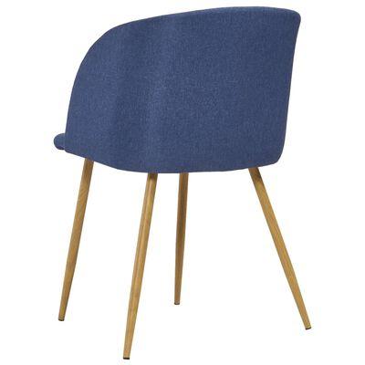 vidaXL Matstolar 4 st blå tyg, Blue