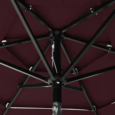vidaXL Trädgårdsparasoll med aluminiumstång 2 m vinröd