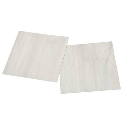 vidaXL Självhäftande golvplankor 20 st PVC 1,86 m² gräddvit