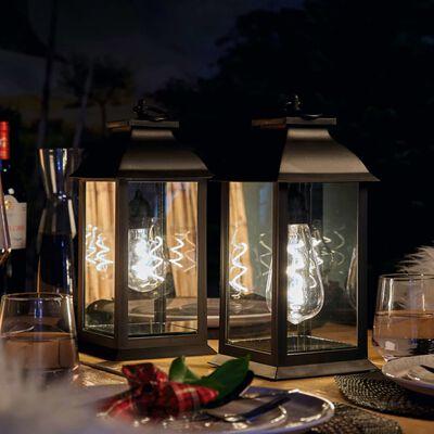 Luxform Batteridriven bordslykta LED Black Lantern A60