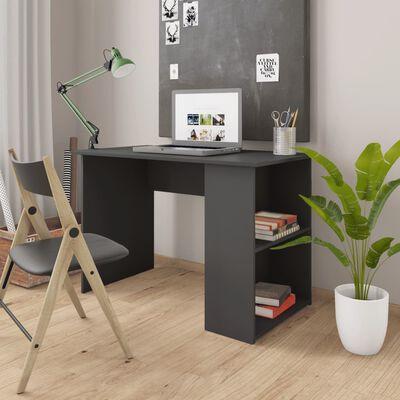 vidaXL Skrivbord grå 110x60x73 cm spånskiva
